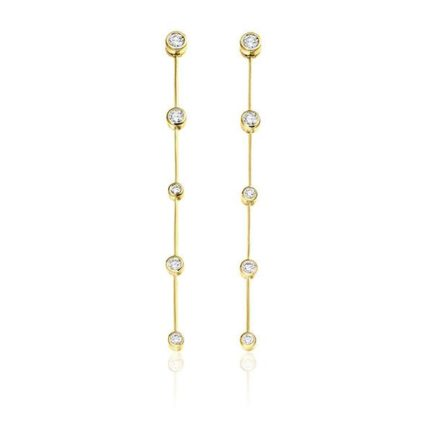Diamond earrings in 18 carat gold