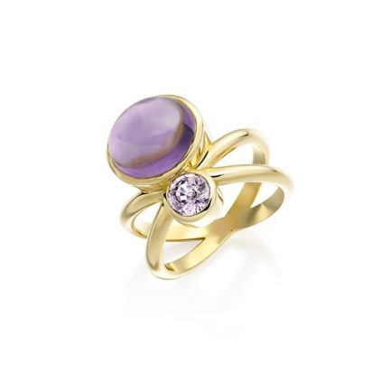 Amethyst and lavender sapphire in 18 carat gold
