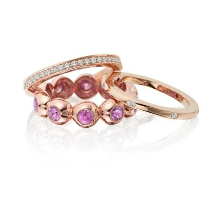 Camilla rings and eternity diamond bands set in 18 carat gold