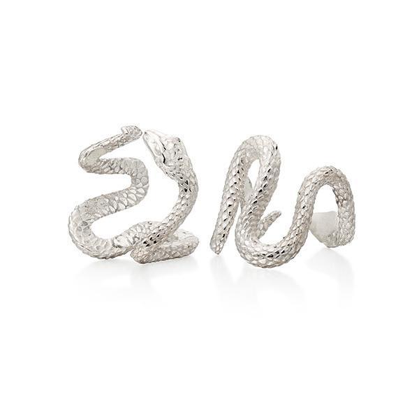 Snake rings in 18 carat white gold
