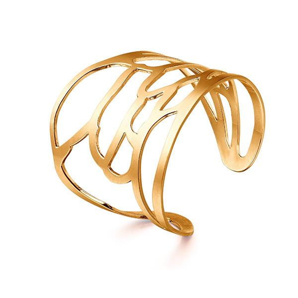 Bee wing cuff in 18 carat gold