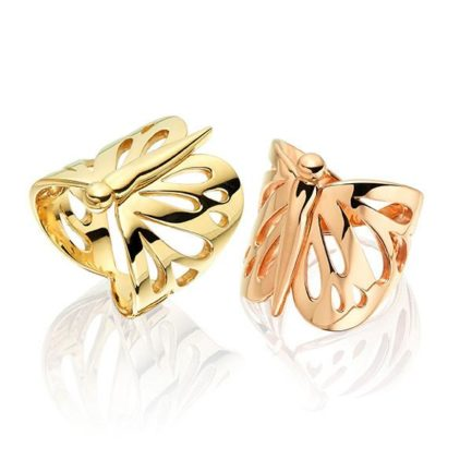 Bee wing rings in 18 carat gold