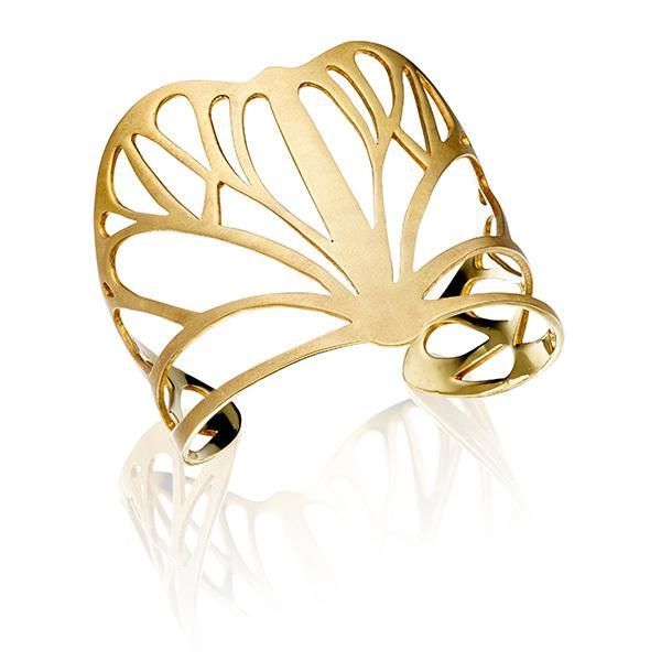 Butterfly cuff in 18 carat gold
