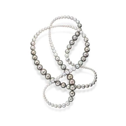 Akoya and Tahitian double interchangeable necklace
