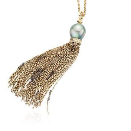 Tahitian pearl and diamonds in 18 carat gold